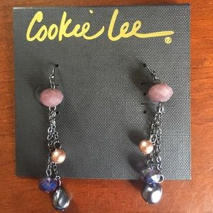 Cookie Lee Gen Crystal & Glass Pearl Earrings